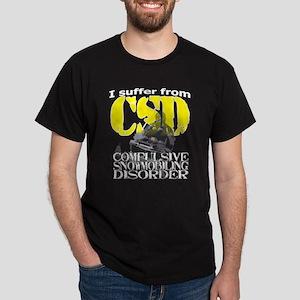 CSD Compulsive Snowmobile Disorder Dark T-Shirt