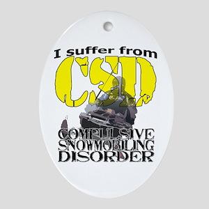 CSD Compulsive Snowmobile Disorder Ornament (Oval)