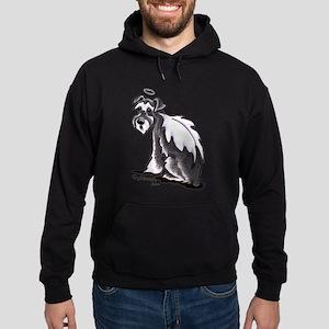 Schnauzer Angel Hoodie (dark)