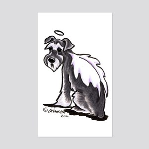 Schnauzer Angel Sticker (Rectangle)