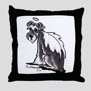 Schnauzer Angel Throw Pillow