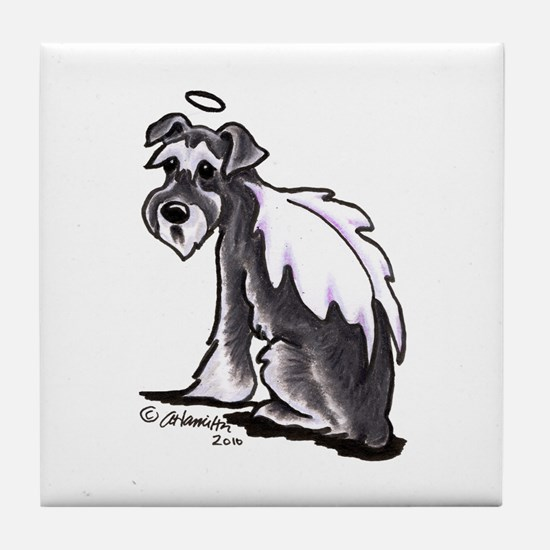 Schnauzer Angel Tile Coaster