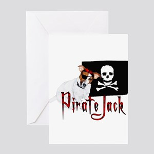 Pirate Jack Russell Greeting Card