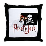 Pirate Jack Russell Throw Pillow