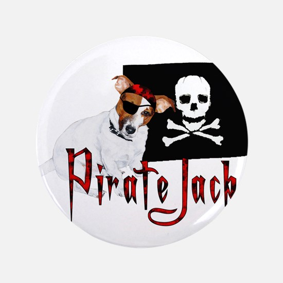 """Pirate Jack Russell 3.5"""" Button"""