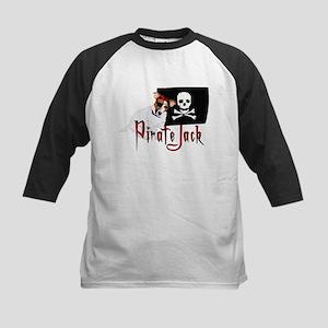 Pirate Jack Russell Kids Baseball Jersey