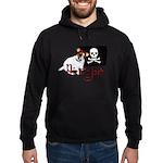 Pirate Jack Russell Hoodie (dark)