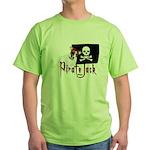 Pirate Jack Russell Green T-Shirt