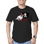 Pirate Jack Russell Men's Fitted T-Shirt (dark)