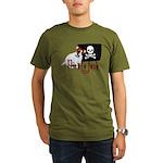 Pirate Jack Russell Organic Men's T-Shirt (dark)