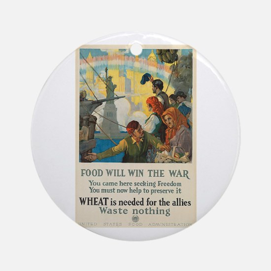 Food Will Win the War Ornament (Round)