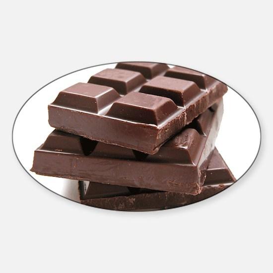 Chocolate Sticker (Oval)