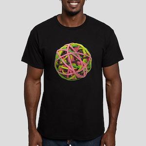 Rubberband Ball Men's Fitted T-Shirt (dark)