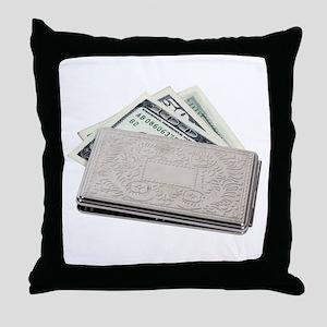 Silver Money Holder Throw Pillow