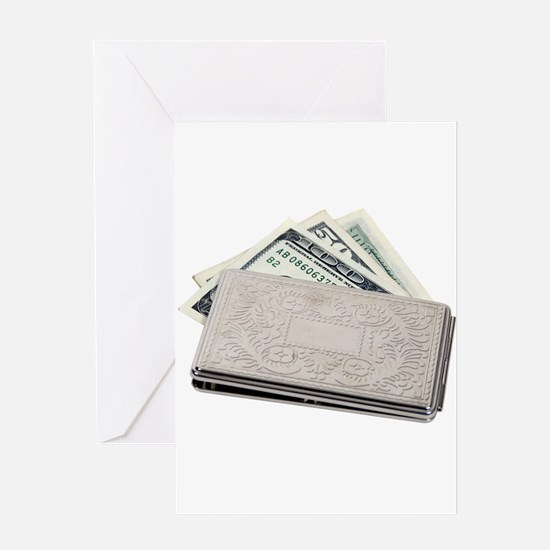 Silver Money Holder Greeting Card
