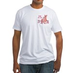 I Love Kids (Pig) Fitted T-Shirt