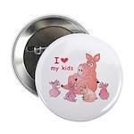 I Love Kids (Pig) Button