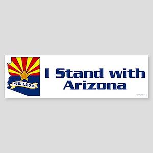 SB1070 - I Stand With Arizona Sticker (Bumper)