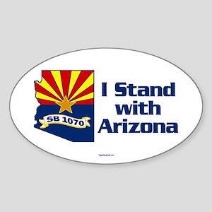 SB1070 - I Stand With Arizona Sticker (Oval)