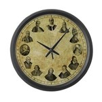 """Pope Pius Clock - 17"""" Large Wall Clock"""
