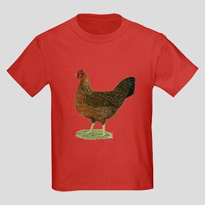 Welsummer Hen Kids Dark T-Shirt