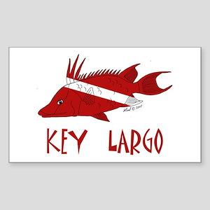 Key Largo Sticker (Rectangle)