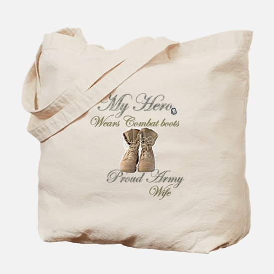 Combat boots Proud Wife Tote Bag