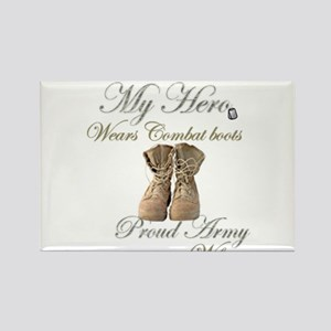 Combat boots Proud Wife Rectangle Magnet