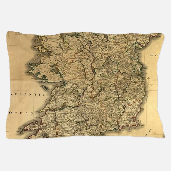 Vintage Map of Ireland (1797) Pillow Case