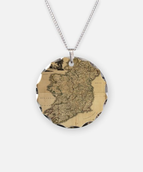 Vintage Map of Ireland (1797 Necklace