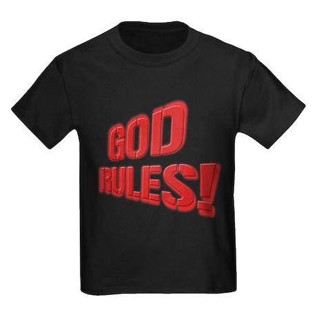 God Rules! Kids Dark T-Shirt