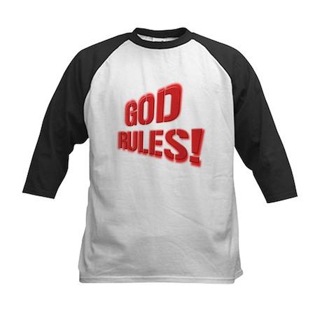 God Rules! Kids Baseball Jersey