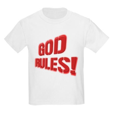 God Rules! Kids Light T-Shirt