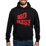God Rules! Hoodie (dark)