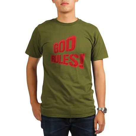 God Rules! Organic Men's T-Shirt (dark)
