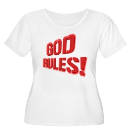 God Rules! Women's Plus Size Scoop Neck T-Shirt
