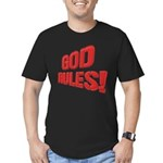 God Rules! Men's Fitted T-Shirt (dark)