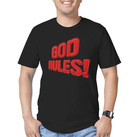 God Rules! Men's Fitted T-Shirt (dark)