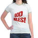 God Rules! Jr. Ringer T-Shirt