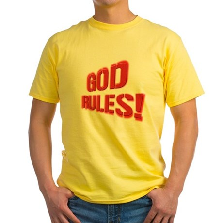 God Rules! Yellow T-Shirt