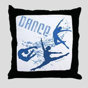 Dance (blue) Throw Pillow