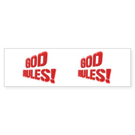 God Rules! Sticker (Bumper)