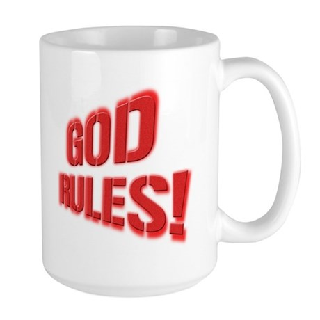 God Rules! Large Mug