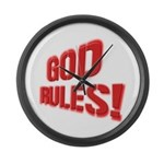 God Rules! Large Wall Clock
