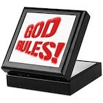 God Rules! Keepsake Box