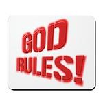 God Rules! Mousepad