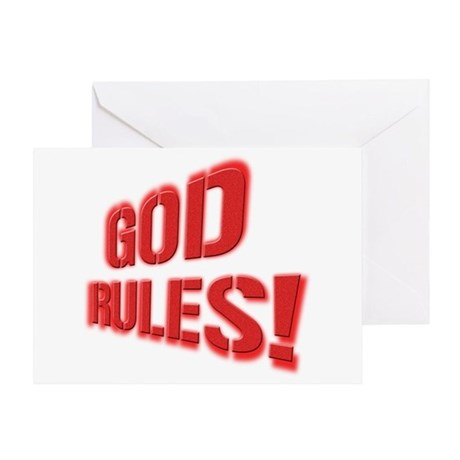 God Rules! Greeting Card