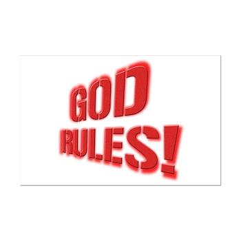 God Rules! Mini Poster Print