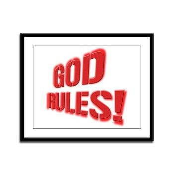 God Rules! Framed Panel Print