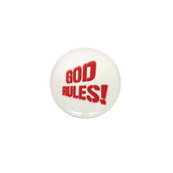 God Rules! Mini Button